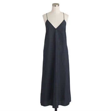 J.Crew Womens Strappy Chambray Midi Dress