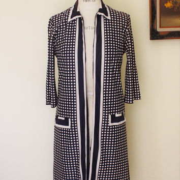 Vintage 1960s Cay Artley Polkadot Dress and Jacket