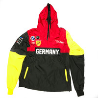 Club Foreign Germany 3 Tone Windbreaker In Red/Yellow/Black