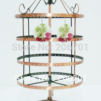 New Stand Rack 0f 96 pairs 360 Rotating Earrings Jewelry Display Holder BF-S13