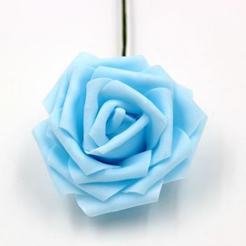 Artificial Foam Roses Flower Heads with Stick Party Decoration