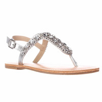 Dolce by Mojo Moxy Rosary Slingback Thong Sandals - Silver