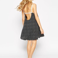 ASOS Swing Dress With Daisy Straps