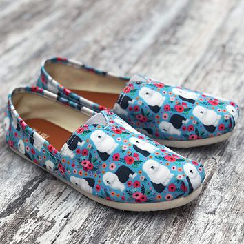Sheep Dog Flower Casual Shoes-Clearance
