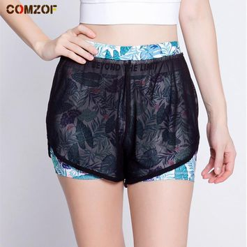 High quality women yoga shorts patchwork mesh quick dry fitness gym sport running shorts with lining summer bermuda feminina