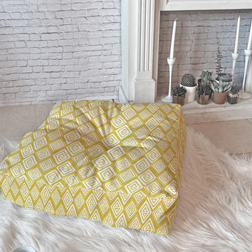 Heather Dutton Diamond In The Rough Gold Floor Pillow Square