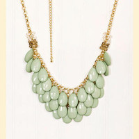 Waterfall Necklace in Green