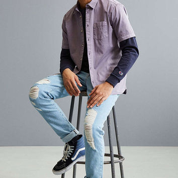 UO Overdyed Pigment Short Sleeve Button-Down Shirt - Urban Outfitters