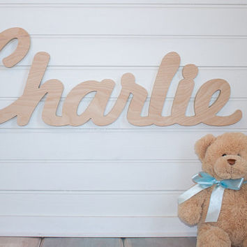 Baby Name Plaque nursery name sign DIY Large Unpainted Personalized nursery baby name wall hanging nursery wooden wall art above a crib