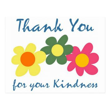 Thank You For Your Kindness Postcard
