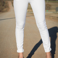 Classic City Skinnies in White