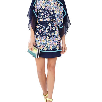 Lois Patterned Kimono Sleeve Dress | Lord and Taylor