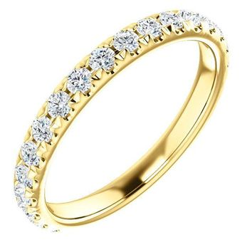 Kenla Round Diamond or Moissanite 3/4 Eternity Wedding & Anniversary Band