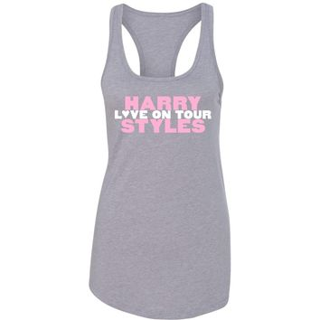"Harry Styles ""Love on Tour // HSLOT"" Racerback Tank Top"