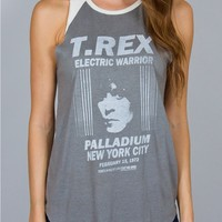 Junk Food Clothing - T Rex Raglan Tank