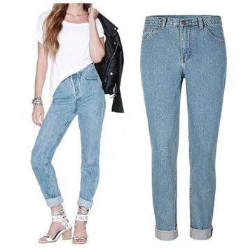 2016 New Arrival Women Jeans Fashion Vintage Style Jeans Women Pants Full Length Loose Cowboy Pants