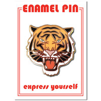 Tiger Pin, Hard Enamel Pin, Gift, Jewelry, Art (PIN25)