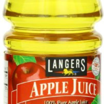 Langers 100% Juice, Apple, 10 Ounce (Pack of 12)