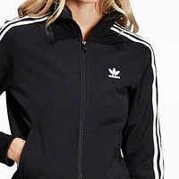 Adidas Classic Fashion Women Men Casual Cardigan Sweatshirt Jacket Coat Windbreaker Sportswear