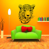 Wall Decal Vinyl Sticker Decals Art Home Decor Design Murals Leopard Print Wild Cat Wildcat Animals Panther Tiger Bedroom Bathroom Dorm AN88