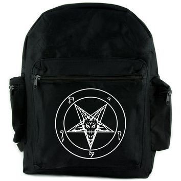 Sigil of Baphomet Backpack School Bag  Occult Inverted Pentagram