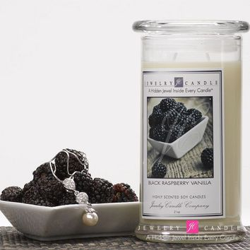 Black Raspberry Vanilla Jewelry Candle