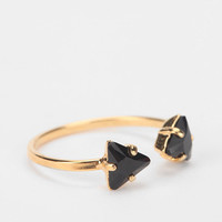 Urban Outfitters - Viveka Bergstrom Triangle Crystals Ring
