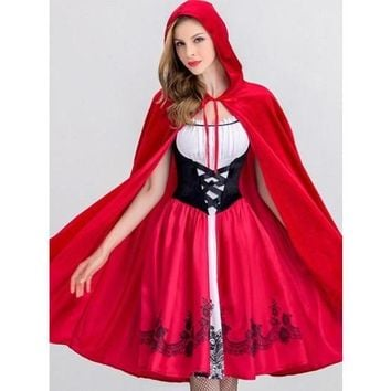 Lace up Halloween Two Pieces Women's Day Dress