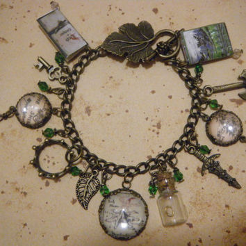 The Hobbit Deluxe Charm Bracelet by KawaiiCandyCouture on Etsy
