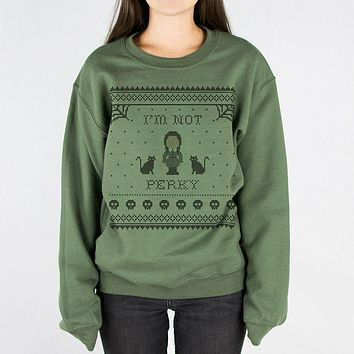 I'm Not Perky Wednesday Addams Crewneck Sweatshirt