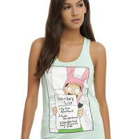Bob's Burgers Louise's List Girls Tank Top