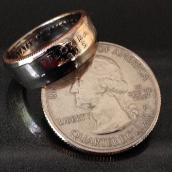 Florida, State Quarter Coin Rings