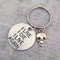 I Live I Die I Live Again Keychain Mad Max by LulusStampings