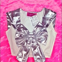 SWEET LORD O'MIGHTY! SPACE SAILOR SCOUT TOP IN SILVER