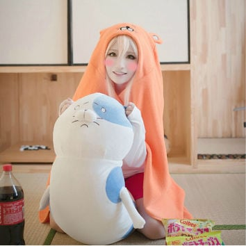 Umaru-chan Cosplay Cloak Hoodies Flannel Coat Daily Blanket Quilt Hot New Anime Himouto!