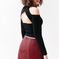 Silence   Noise Savannah Cold-Shoulder Cropped Top