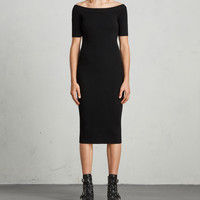 ALLSAINTS CA: Womens Lavine Bandeau Dress (black)