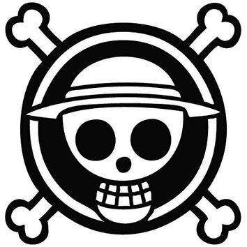One Piece Anime Logo - Cartoon Decal Vinyl Removable Decorative Sticker for Wall Car Room