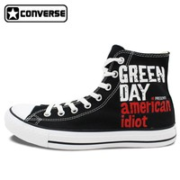 Green Day Painted Converse