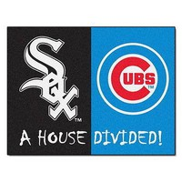 Chicago Cubs vs Chicago White Sox House Divided Mat