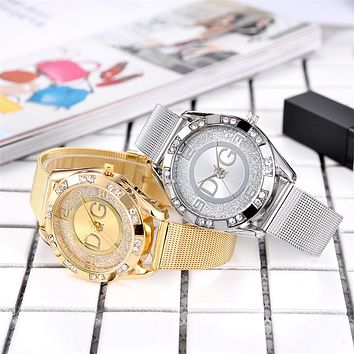Women Dress Watches Stainless Steel Exquisite Watch Women Rhinestone Luxury Casual Quartz Watch Relojes Mujer 2019 New Arrivals