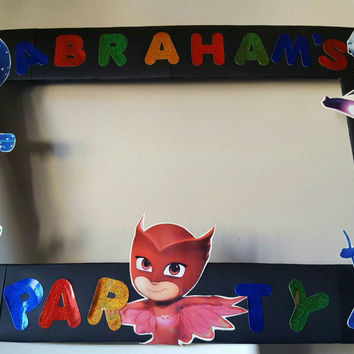 Party Photo both frame inspired by Pj masks