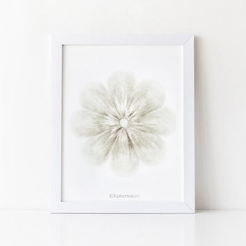 White flower art print, White home decor wall art, Flower Printable art, Bedroom decor, Flower wall art print, White decor PRINTABLE decor