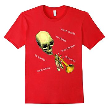 Mr Skeltal Doot & Meme | Funny Bones & Calcium T-Shirt