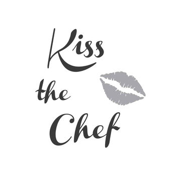 wall quotes wall decals - Kiss the Chef