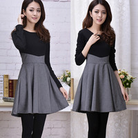 Korean fashion sweet long-sleeved dress