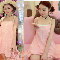 Fashion Trendy Princess Sweet Cute Dolly Lolita Kawaii Sweet Vest Dress Onepiece