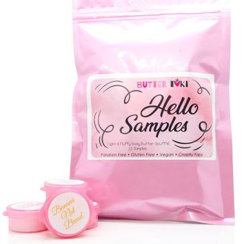 HELLO SAMPLE PACK Body Butter Soufflé - 12 Samples 1/6 oz each