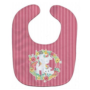 Unicorn and Flowers Baby Bib BB8772BIB