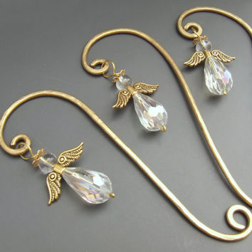 Angel bookmark, golden angel, wire bookmark, brass book accessories, Christmas gift - Listing is for one item